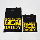 'Team Daddy' Personalised Sport T Shirt Set
