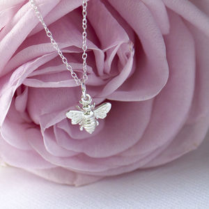 Bee Dainty Sterling Silver Necklace