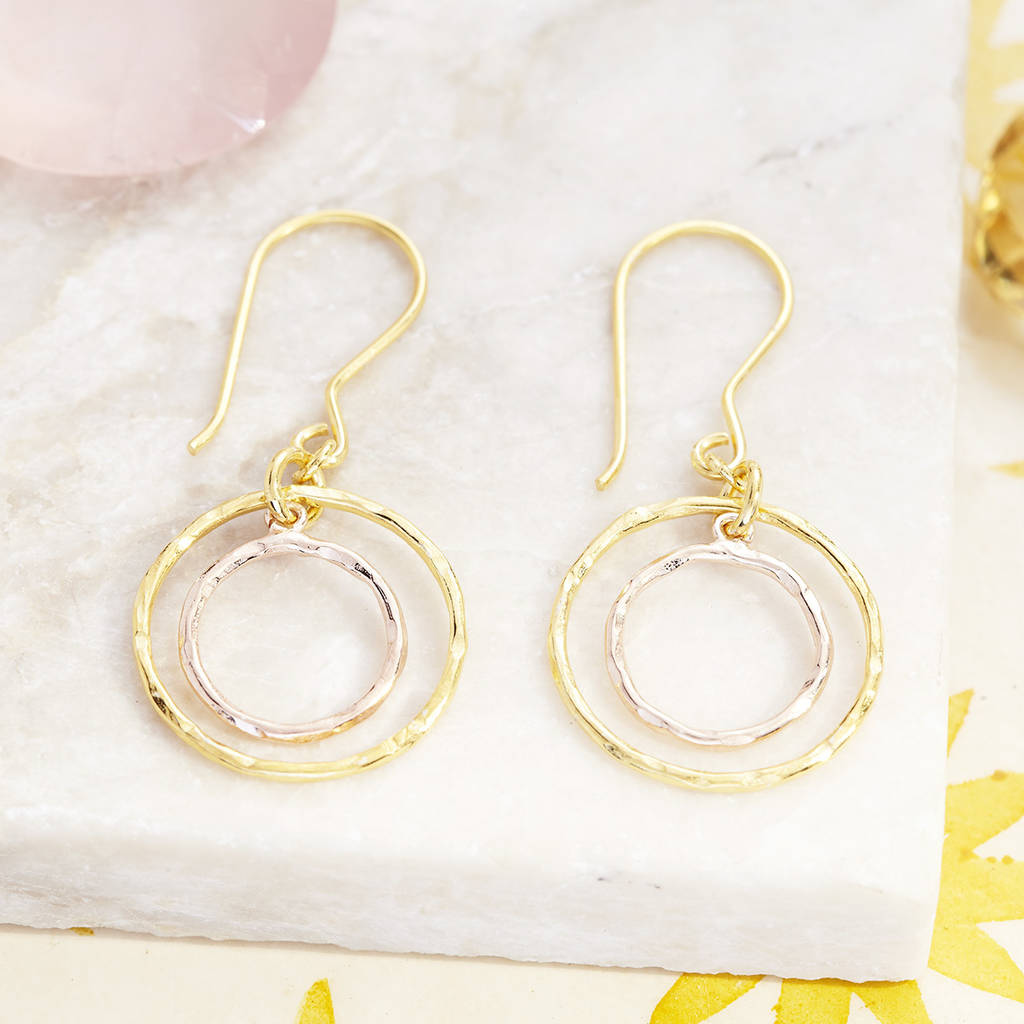 Concentric Circle Earrings: Jaisalmer Concentric Circle Earrings By Pomegranate