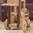 Wooden Toy Forklift Truck Toy