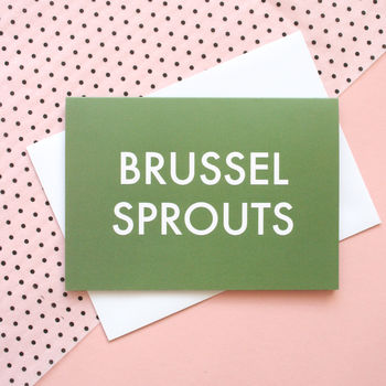 'Brussel Sprouts' Christmas Card