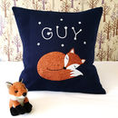 Sleeping Fox Personalised Cushion