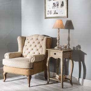 St James French Wing Chair - armchairs