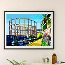 Bethnal Green Gasworks, East London Illustration Print