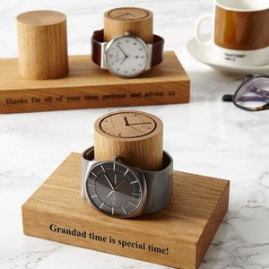 Personalised Watch Stand Gift For Grandad - bedroom