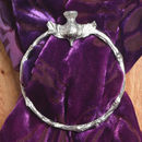 Thistle Pewter Scarf Ring. Handmade In The UK