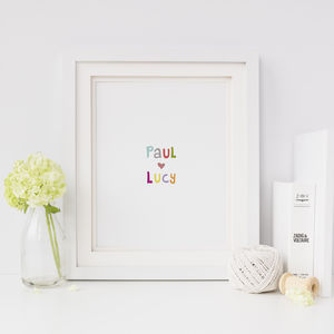 Personalised Anniversary Gift, Love Print - what's new