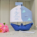 Personalised Engagement Paper Boat Card Keepsake