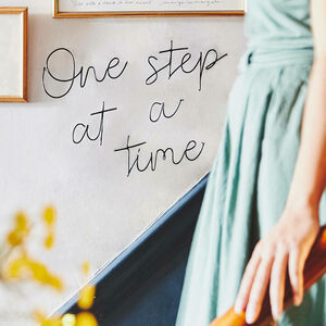 'One Step At A Time' Wire Wall Art