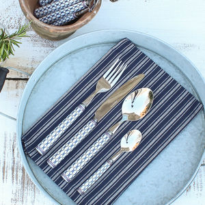 Blue Patterned Cutlery Set - cutlery sets