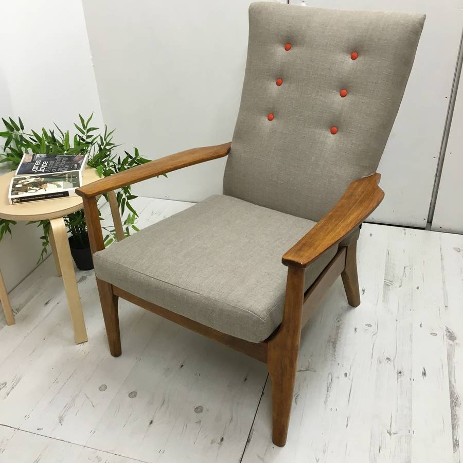 Retro Vintage Classic Parker Knoll Armchair By Jeremy Bull
