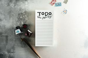 'To Do Like Yesterday' Letterpress List Pad