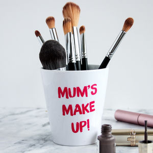 Personalised 'Lipstick Writing' Make Up Brush Pot