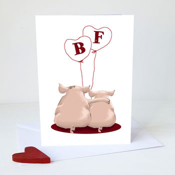 Pig Couple Card