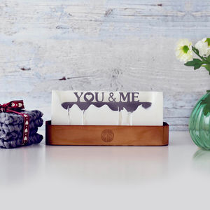 'You And Me' Hidden Message Candle