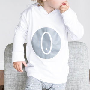 Personalised Letter Baby Cotton Hoodie - jumpers & cardigans