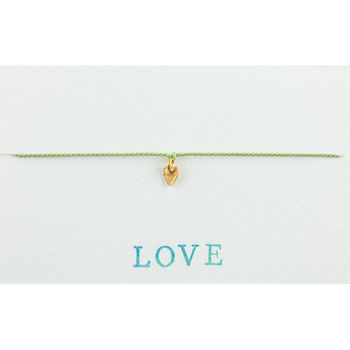 Handmade Love Heart Silk Bracelet