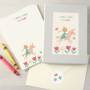 Personalised Children's Writing Set - whats new
