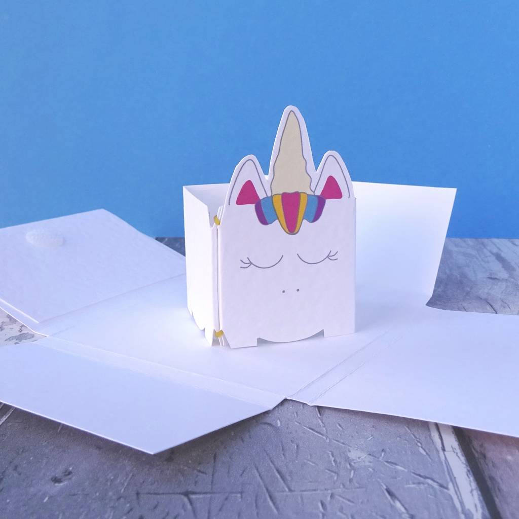 Unicorn Pop Up Birthday Card For A Girl Or Boy
