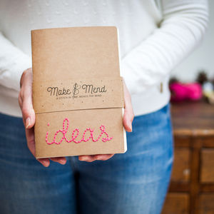 Plans And Ideas Embroidered Notebooks Set Of Two