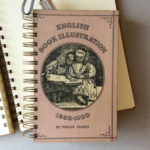 'English Book Illustration' Upcycled Notebook