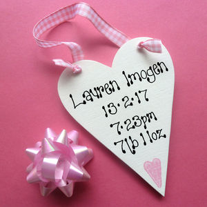 Personalised Baby's Message Heart - gifts for babies
