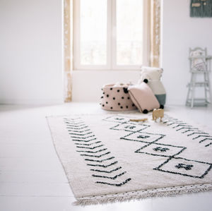Machine Washable Rhombs Rug