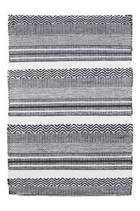 Black And White Outdoor/Indoor Rug - rugs & doormats