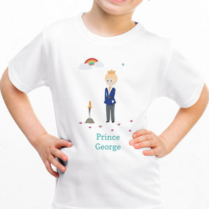 Children's Personalised Prince T Shirt