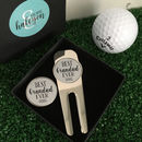 Personalised 'Best Grandad Ever' Golf Tool Marker Set
