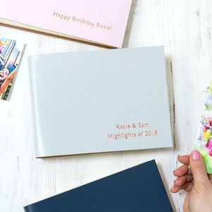 Coloured Leather Photo Album - personalised