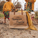 Personalised Family Adventures Jute Shopper