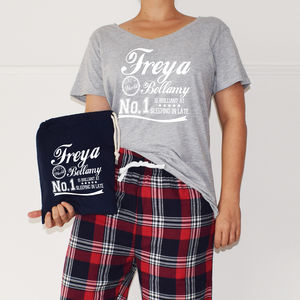 Personalised 'Is Brilliant At' Ladies Pyjamas