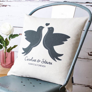 Love Doves Personalised Cushion Cover - cushions