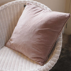 Dark Blush Velvet Scatter Cushion