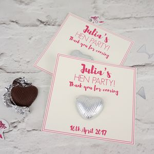 Hen Party Chocolate Heart Gifts