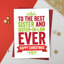 Best Sister And Sister In Law Christmas Card