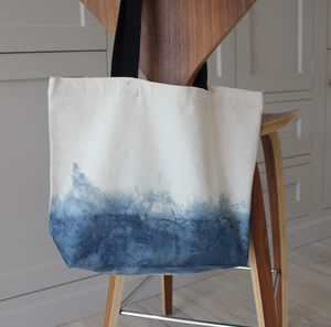 Dip Dyed Ombre Shopping Bag