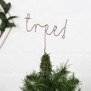 Custom Word Christmas Tree Topper - new lines added