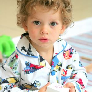Boy's 'Planes And Trains' Cotton Pyjamas - clothing