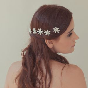 'Daisy' Mother Of Pearl Flower Wedding Hair Pins