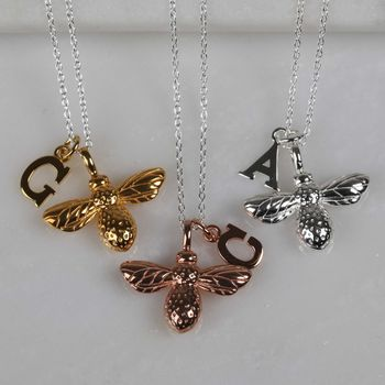 18ct Gold, Rose Gold & Solid Silver Bees & Letter Charms