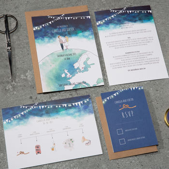'On Top Of The World' Wedding Stationery Suite