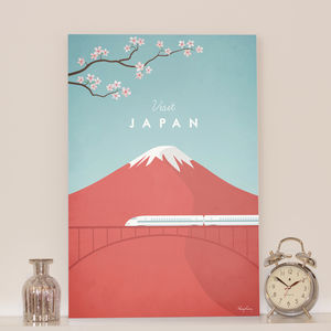 'Visit' Japan' Travel Poster Print - posters & prints