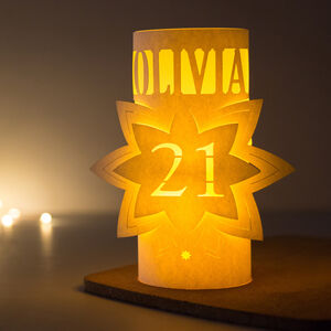 21st Personalised Birthday Star Lantern Centrepiece