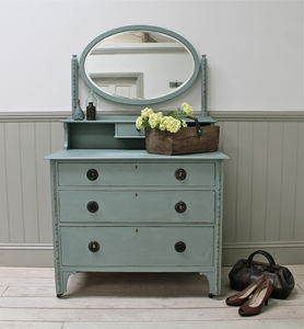 Oval Mirror Vintage Dressing Chest