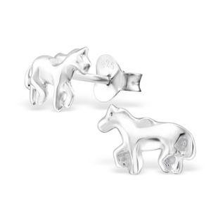 Horse Earrings In Sterling Silver