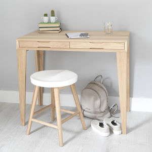 Oak Desk With Wall Storage - furniture