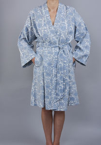 Amritsar New Floral Design Cotton Wrap Bathrobe