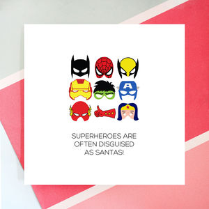 Personalised Santa Hero Card - cards & wrap